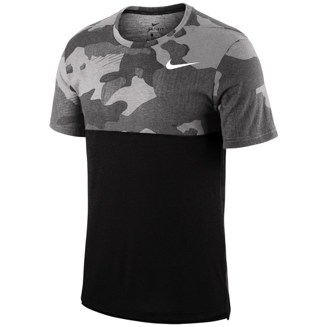 Nike T-Shirt Fall Camo Crew Grigio Uomo