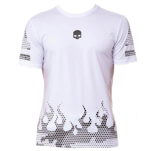 Hydrogen T-Shirt Tech Hot Tee White Black Uomo
