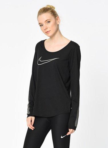 Nike Dry Tee LS SWSH Nero Dona