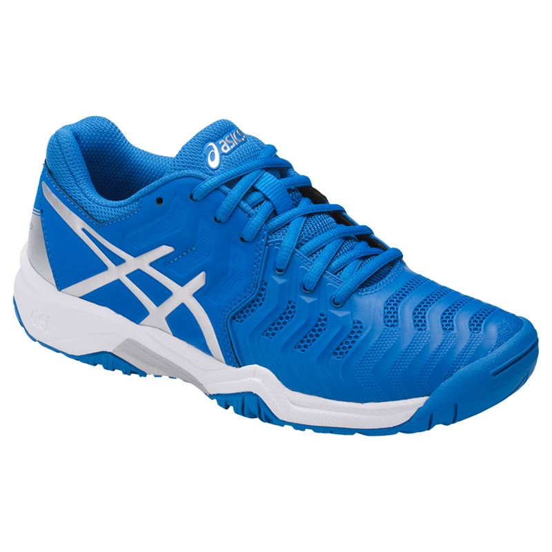 Asics Gel-Resolution 7 Blu-Argento-Bianco Junior