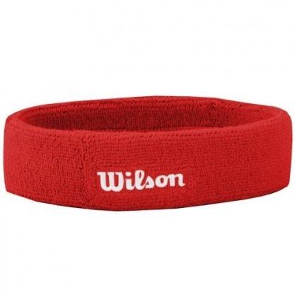 Wilson Bandana Rosso Logo Bianco
