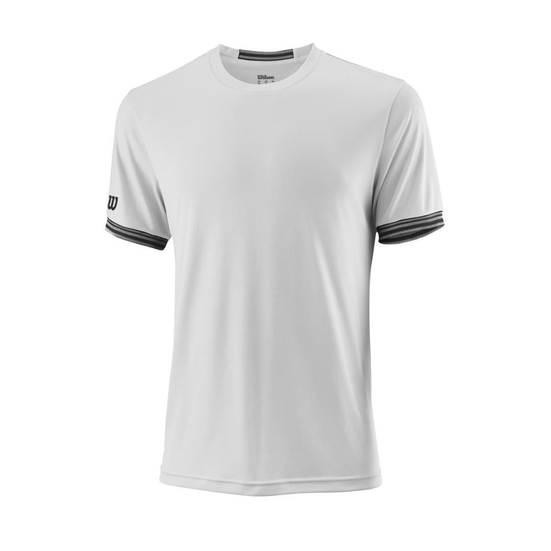 Wilson Team Solid Crew T-Shirt Bianca Uomo 1