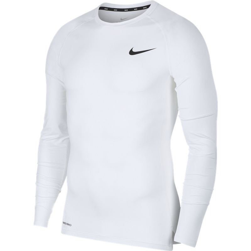 Nike Pro Long-Sleeve Top Bianco Uomo