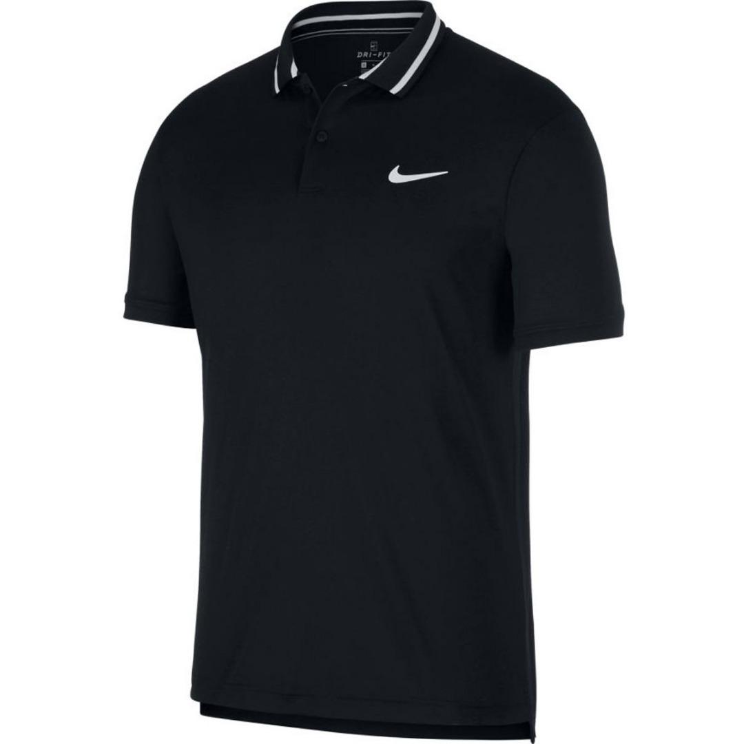 Nike Court Dri-Fit Polo Nero Uomo 1