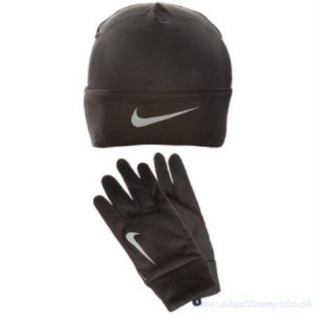 Nike Set Guanti-Cappellino Nero Uomo