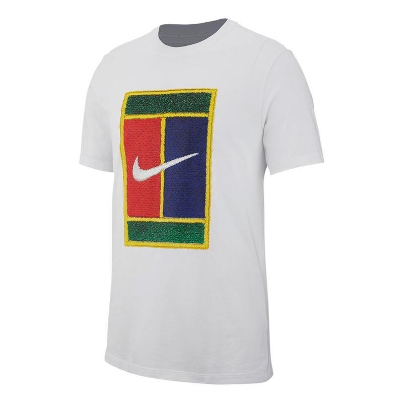Nike T-Shirt Court Tee Bianca Uomo