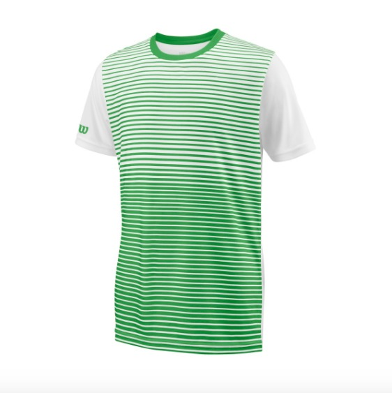 Wilson Team Striped Crew verde bambino
