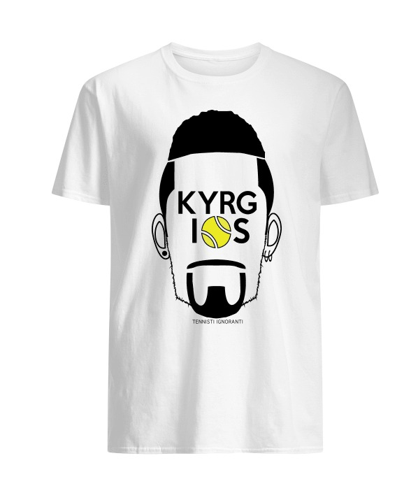 Nick Kyrgios Funny T-Shirt Bianco Uomo
