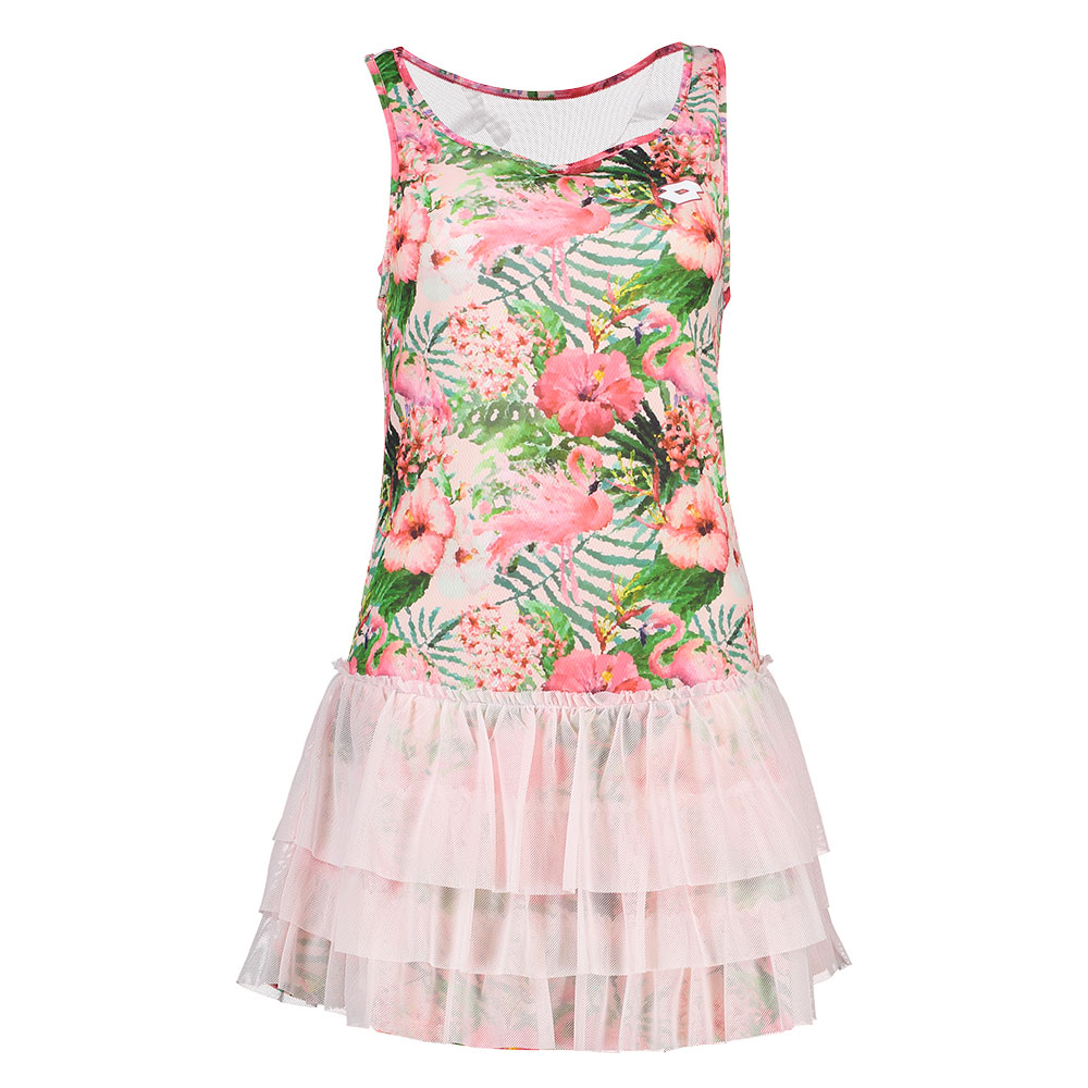 Lotto Flamiflower Dress Pink Donna