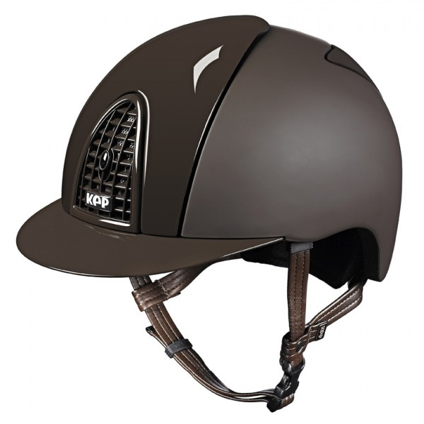Kep Italia Cap Cromo Textile with Polish Grid Brown 1