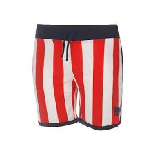 Hydrogen Stripes Tech Shorts White/Red 1