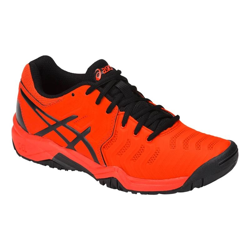 Asics Gel-Resolution 7 GS Red-Black Junior
