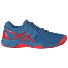 Asics Gel-Resolution 7 Clay Azure/ Red Alert Junior