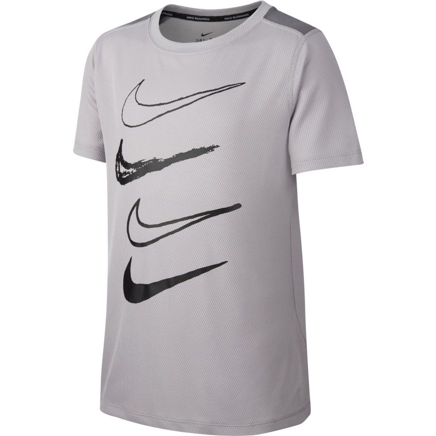 Nike Spring Dry Graphic Crew T-shirt Grigio Bambino 1