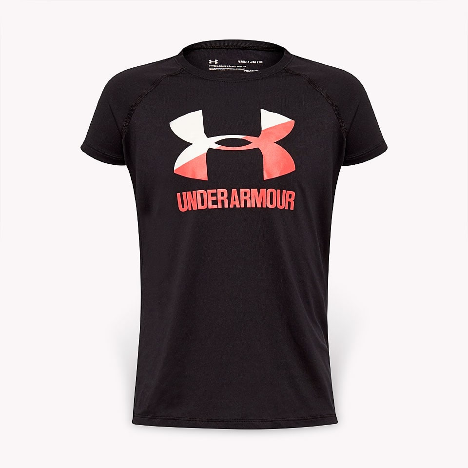 Under Armour Spring Big Logo Top Nero Bambina