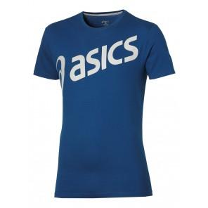 Asics SS T-Shirt Logo Blu Uomo