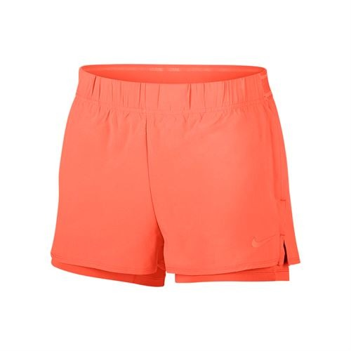 Nike Court Flex Shorts Orange Donna 1
