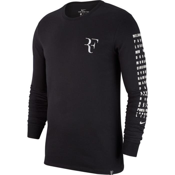 Nike T-Shirt Manica Lunga RF Bianco Uomo 1
