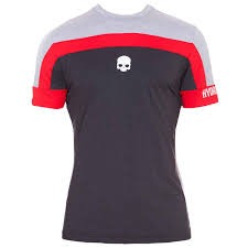 Hydrogen Tech Skull T-shirt Grey Melange/Red Uomo 1