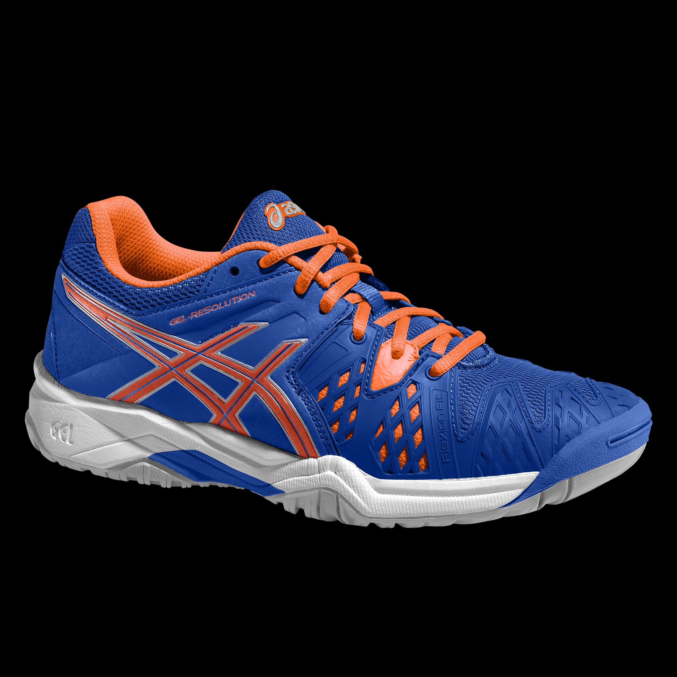 Asics Gel-Resolution 6 Blu-Arancione Junior