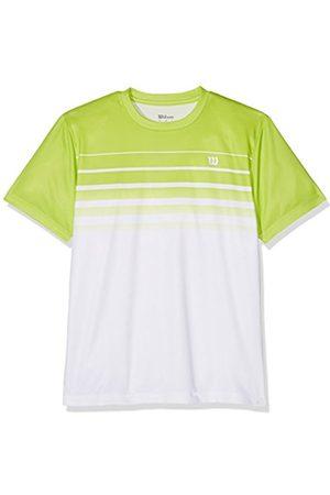 Wilson team Striped Crew T-Shirt Bianco-Verde Bambino 1