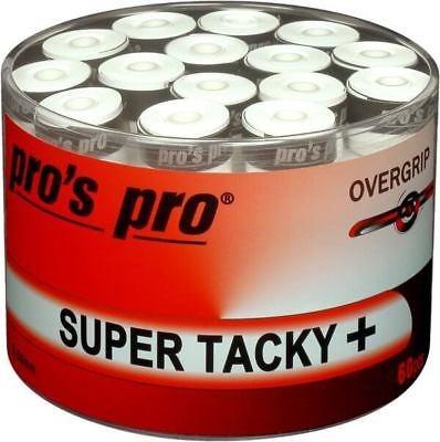 Pro's Pro Overgrip Super Tacky Plus Bianco 0.50 mm (60x)