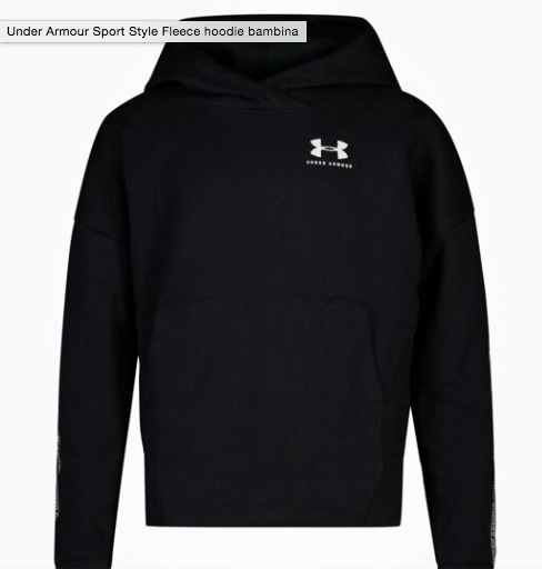 Under Armour Sportstyle Fleece Black Bambina