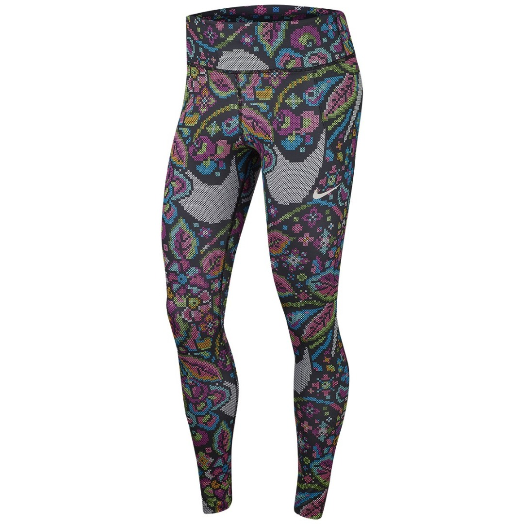 Nike Fast Printed Running Tights Donna 1