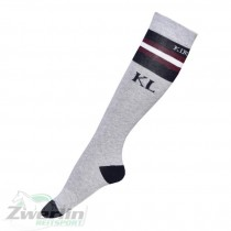 Kingsland Charleton Uni Coolmax Socks grigio/navy  logo & stripes