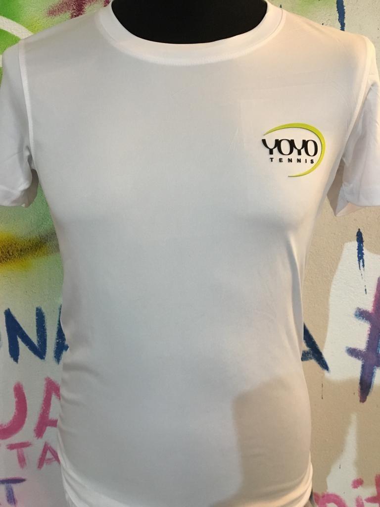 YOYO-TENNIS T-Shirt Polyester Bianca Uomo