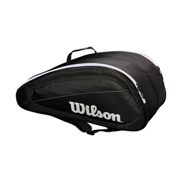 Wilson Federer Borsa Team 12 Pack Nero/Bianco