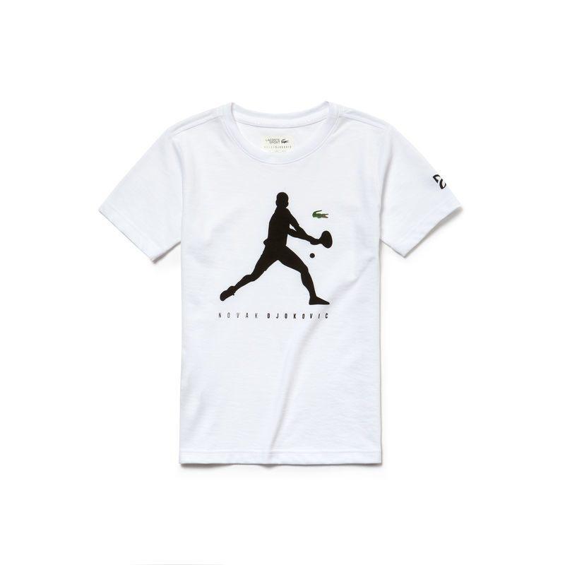 Lacoste T-Shirt Djokovic Bianco Bambino