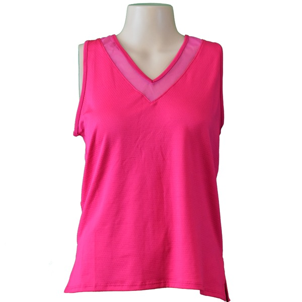 Lucky in Love Diamond Back Tank Rosa Donna 1