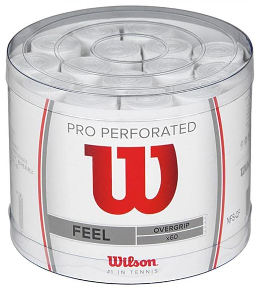 Wilson Pro Overgrip Perforated Bianco (60x) 1