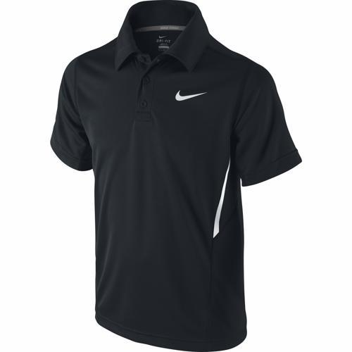 Nike Dri-Fit UV Boarder Polo Nero Bambino