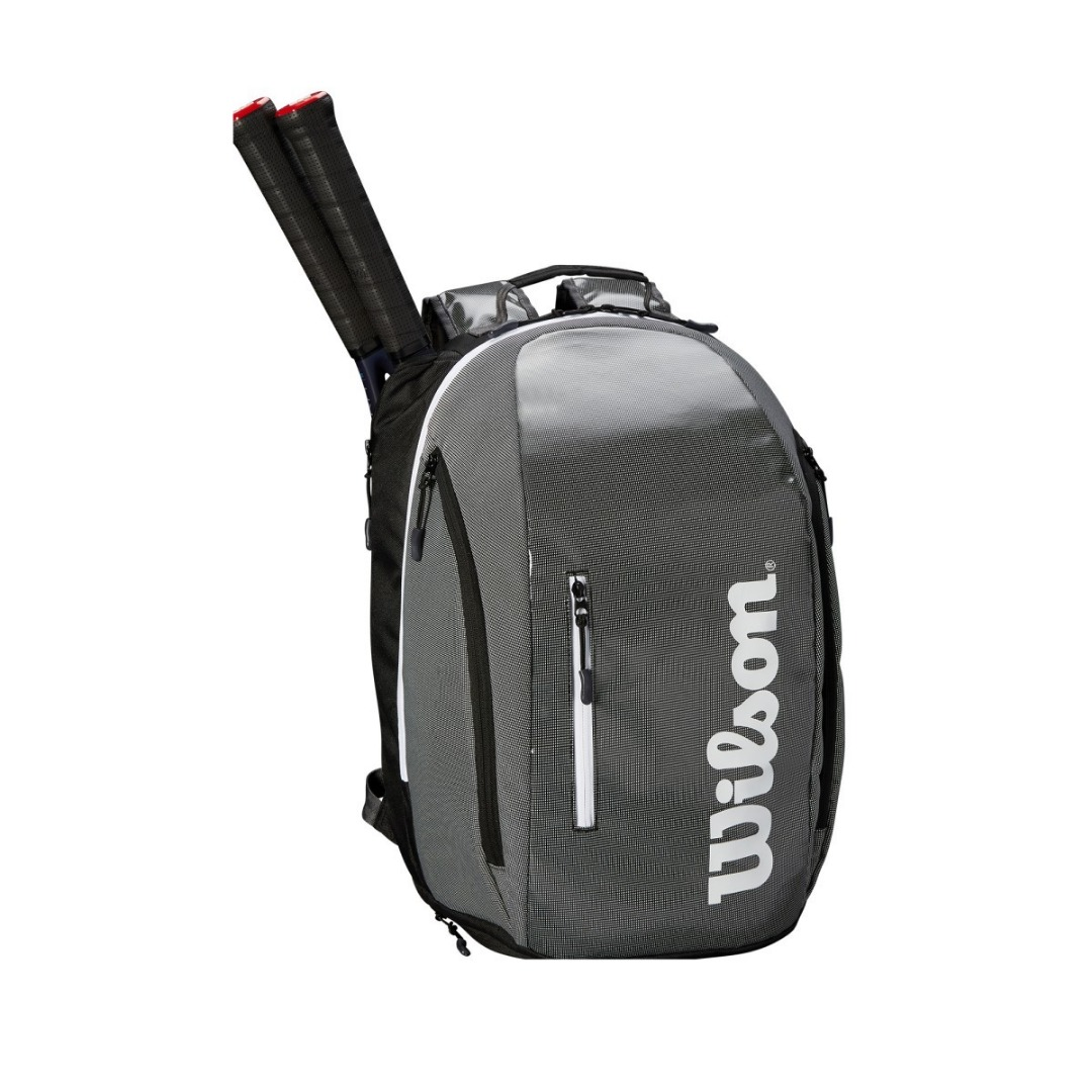 Wilson Super Tour Backpack Black Grey 1