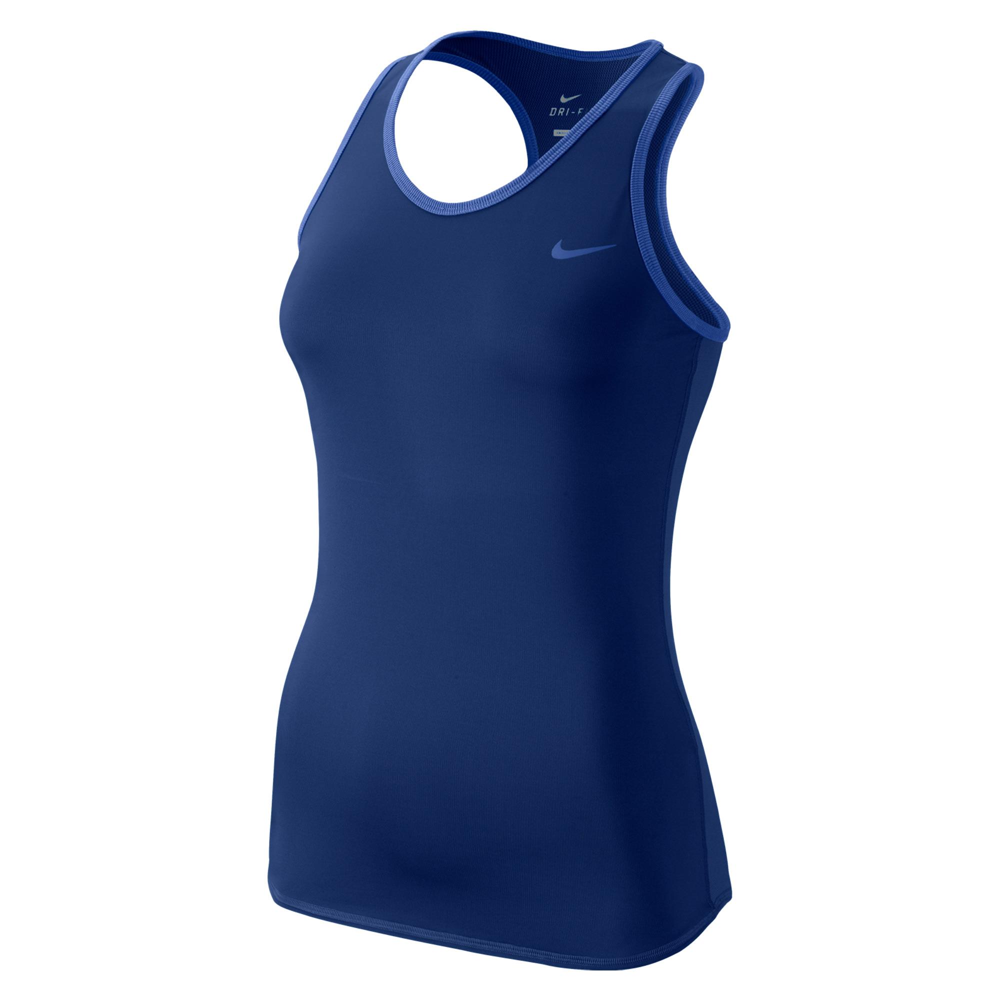 Nike Advantage Court tank Blu Donna 1