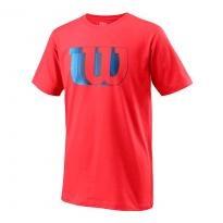 Wilson T-Shirt Tech Tee Blur Infrared Bambino 1