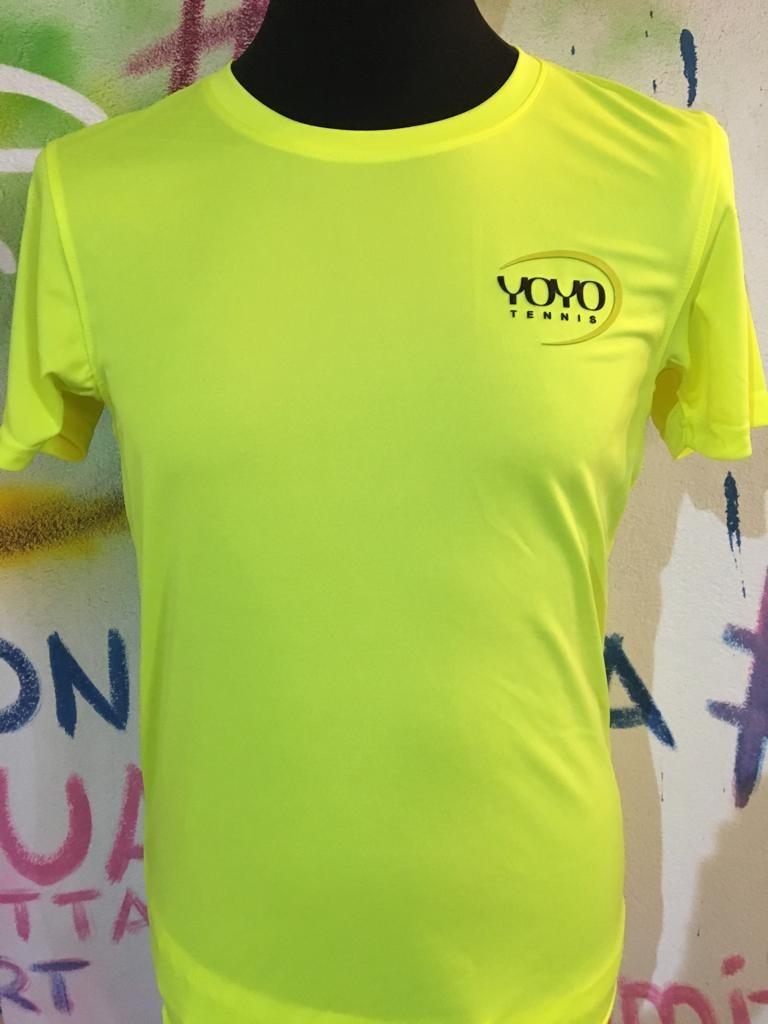 YOYO-TENNIS T-Shirt Polyester Lime Uomo