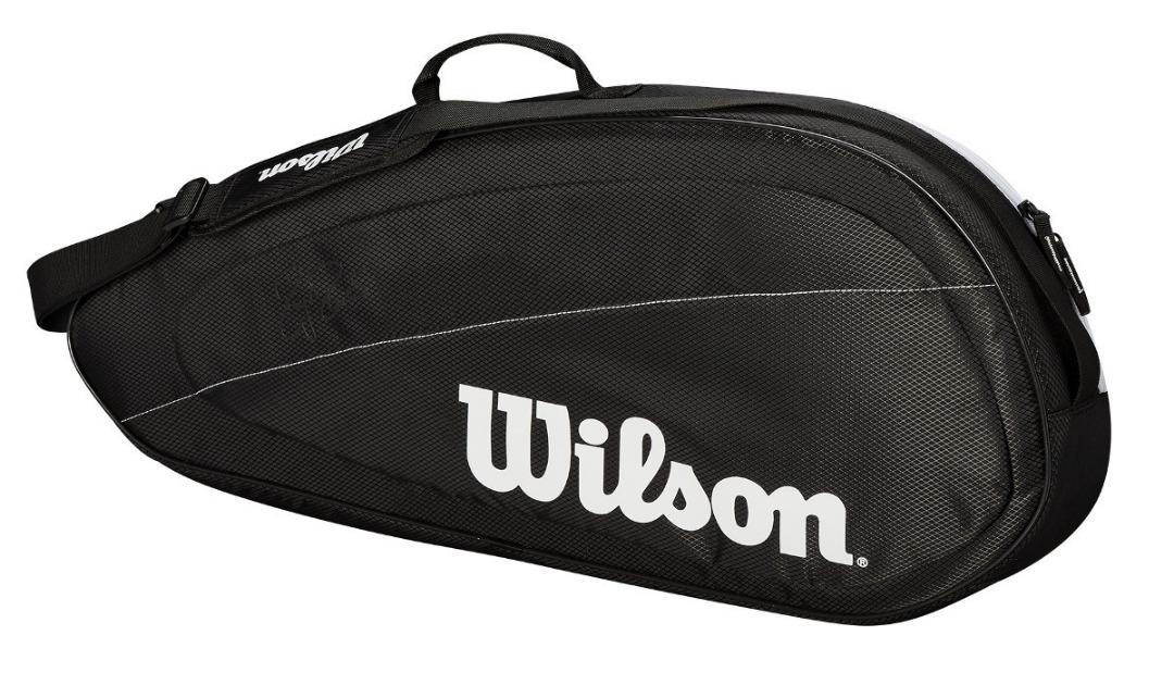 Wilson Federer Borsa Team 3 Pack Nero/Bianco