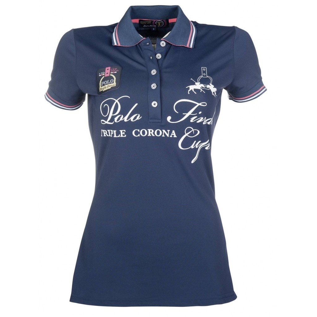 Hkm Sport Equipment Poloshirt Santa Rosa Navy Donna