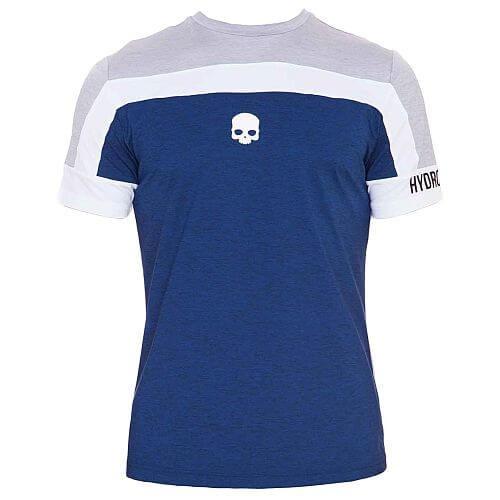 Hydrpogen Tech Skull t-shirt Grey Melange/ Blue Uomo 1