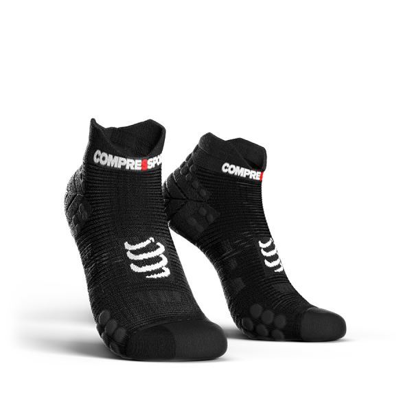 Compressport Pro Racing Calze Basse Nero-Rosso 1