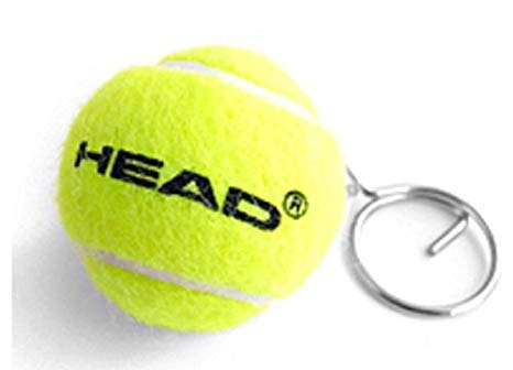 Head Mini Tennis Pallina Portachiavi Gialla