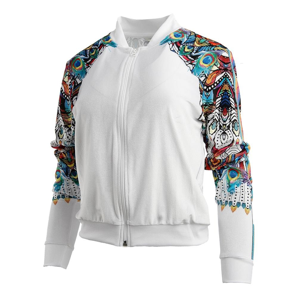 Lucky In Love Illusion VelBomber White Donna