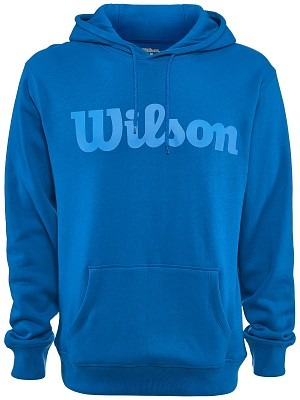 Wilson  Script Cotton Hoody Imperial Blu Uomo 1