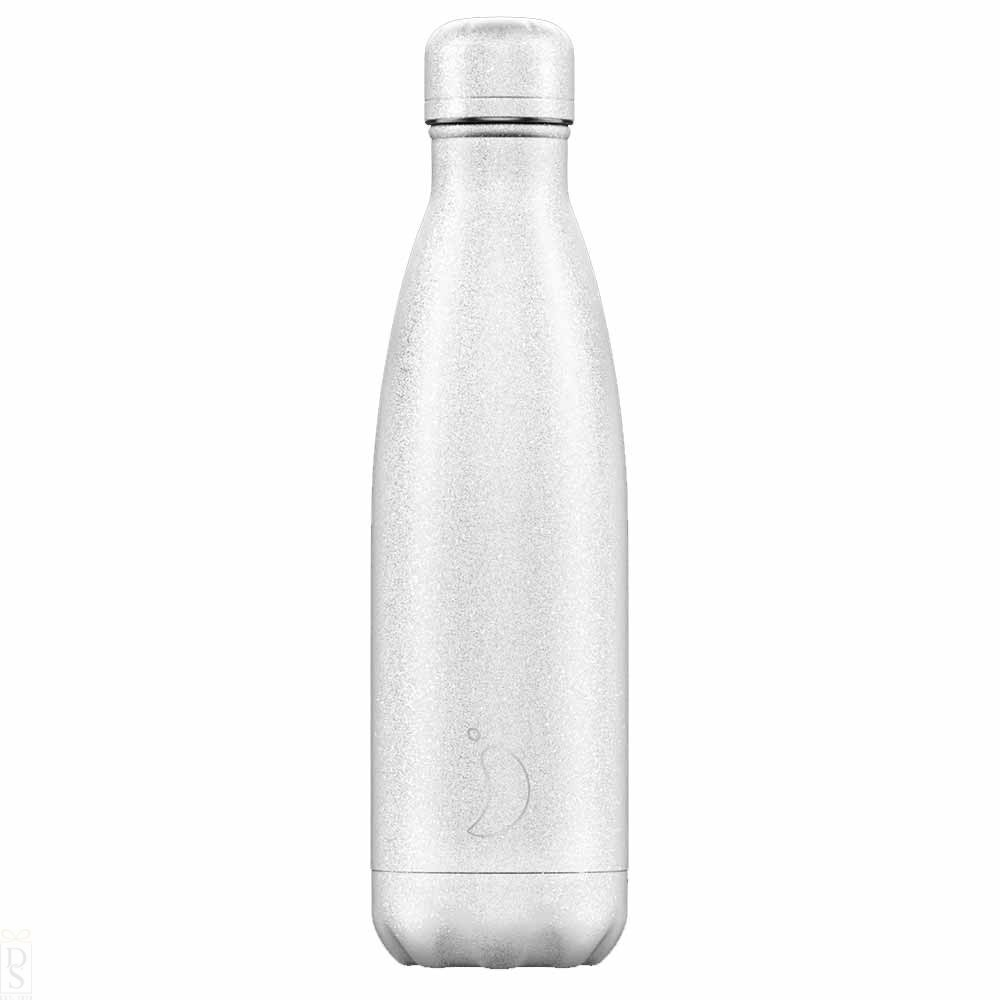 Chilly's Bottle White Glitter 500 ml
