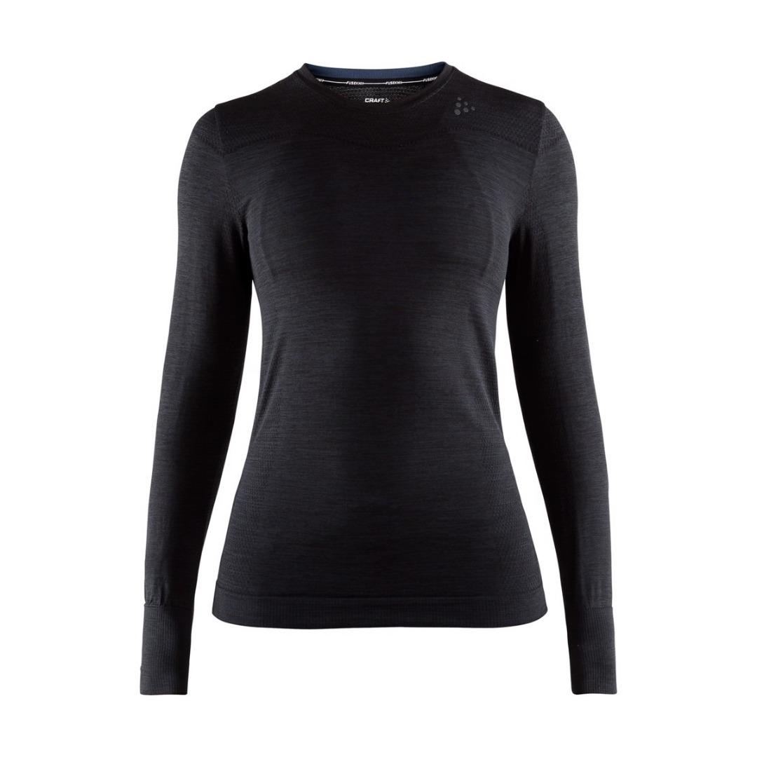 Fuseknit Comfort LS Black Donna