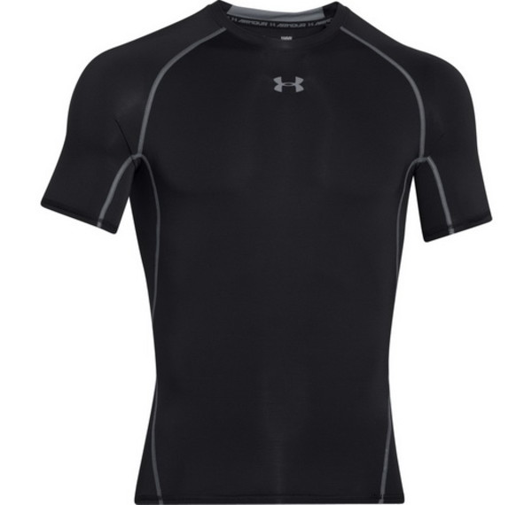 Under Armour T-Shirt Heatgear Nera Uomo