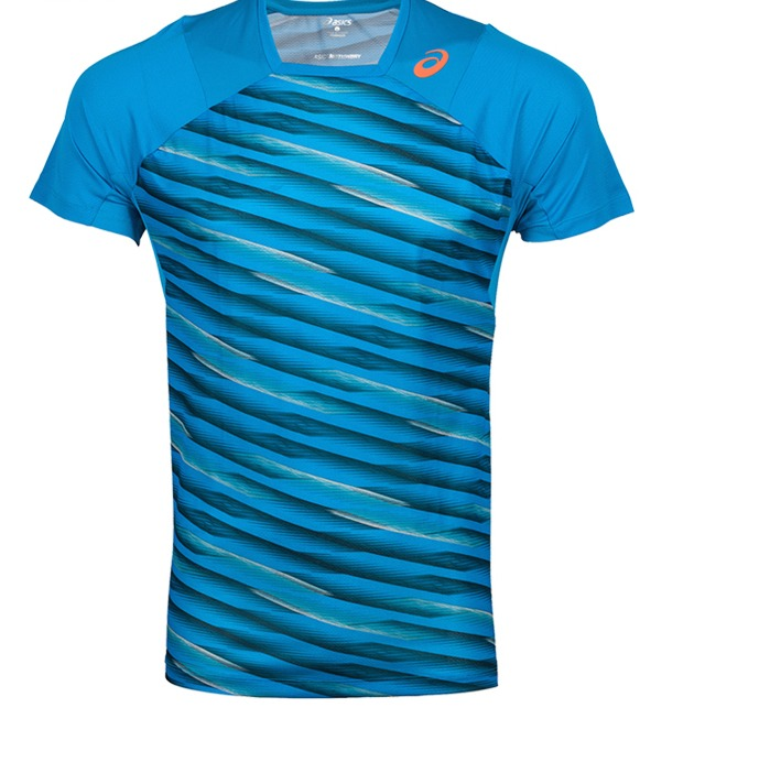 Asics Athlete SS T-Shirt Blu Uomo